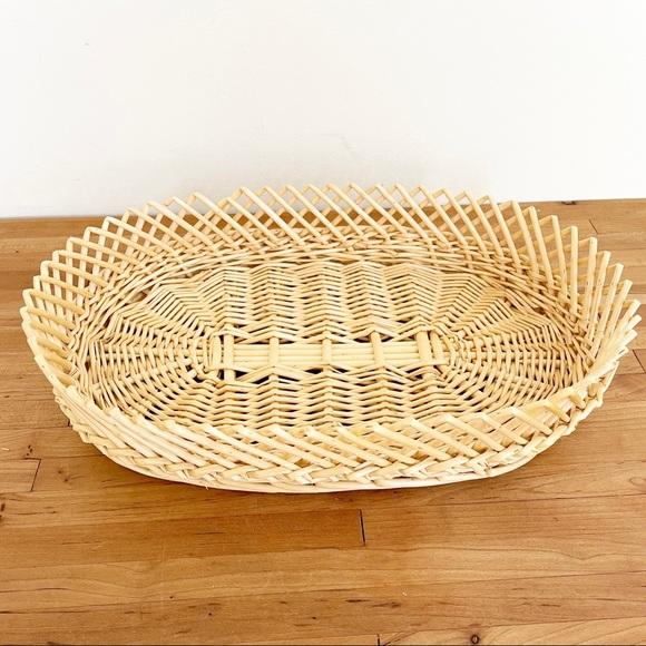 Vintage Woven Straw Large Basket